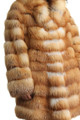 Red Fox Fur Coat Fit In Waist