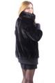 Black Mink Fur Bomber Jacket
