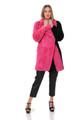 Pink Black Mink Fur Coat