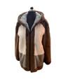mens saga hooded mink fur coat zipper closure