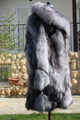 Blue Frost  Fox Fur Coat Xs to XXXL