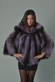 brand new purple ladies raccoon fur coat hooded
