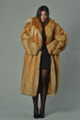 women's long  red fox fur coat fully let out