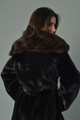 Black Mink Fur Coat  and Sable Hood