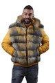mens hooded fur parka