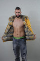 Yellow Reversible Fox Fur Lined Hooded Parka