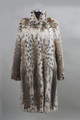 lynx fur coat 3/4 length stand up collar NAFA FUR