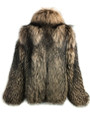 Brown Unisex Fox Fur  Bomber Jacket
