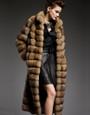 Long Golden Sable Fur  Coat