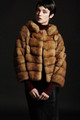 GOLDEN BROWN SABLE FUR JACKET