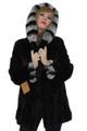 Blackglama Mink Jacket  with Rex  Chinchilla  Hood and cuffs