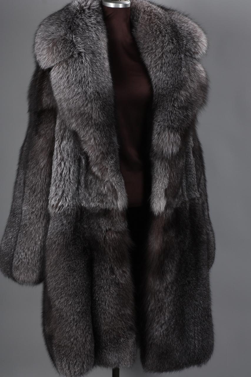 dbfd3c52639c2 Blue Frost Fox Mens Fox Fur Coat