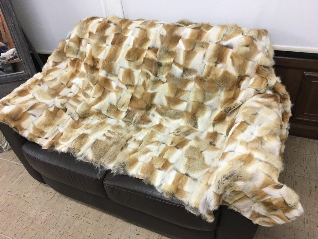 Coyote Fur Blanket Throw