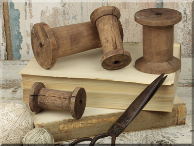 E15905 Plain Wooden Spool Set (4A)