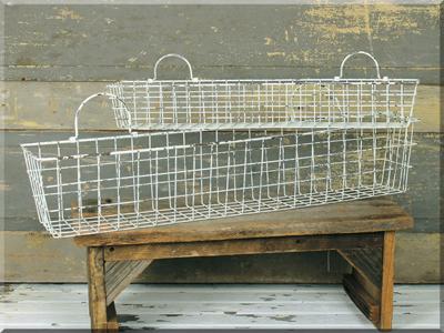 E16189 Ivory Long Wall Basket Set (2A)