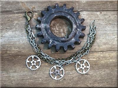 E170011 Salvage Gears Bracelet