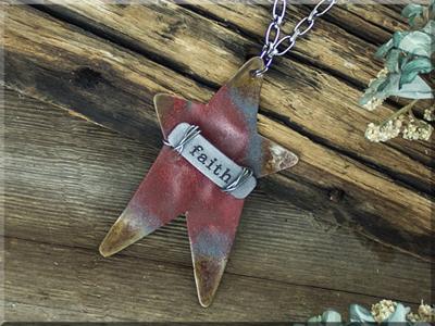 E170038 Faith Prim Star Necklace