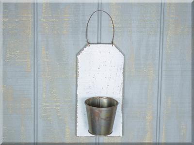 E17043 Ivory Wood Single Bucket Hanger