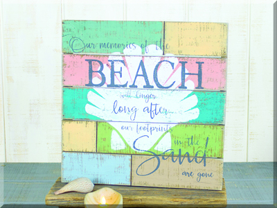 E17284 Footprints in the Sand Pallet Sign