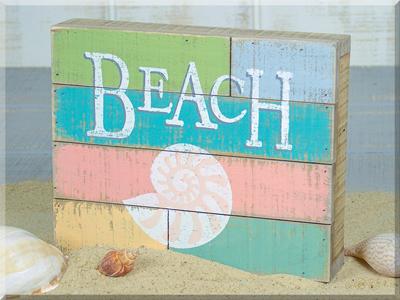 E17292 Beach w/Shell Pallet Sign