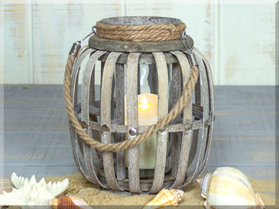 E17479 Small Tall Wooden Lantern