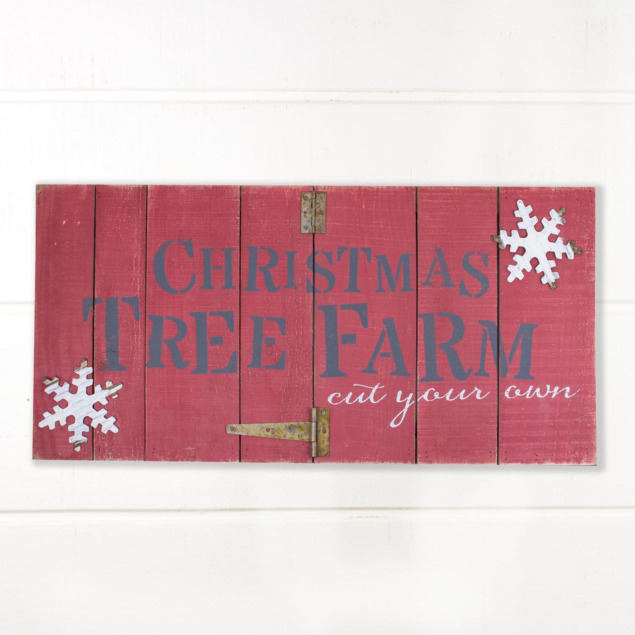 C18465 Christmas Tree Farm Hinged Pallet Sign
