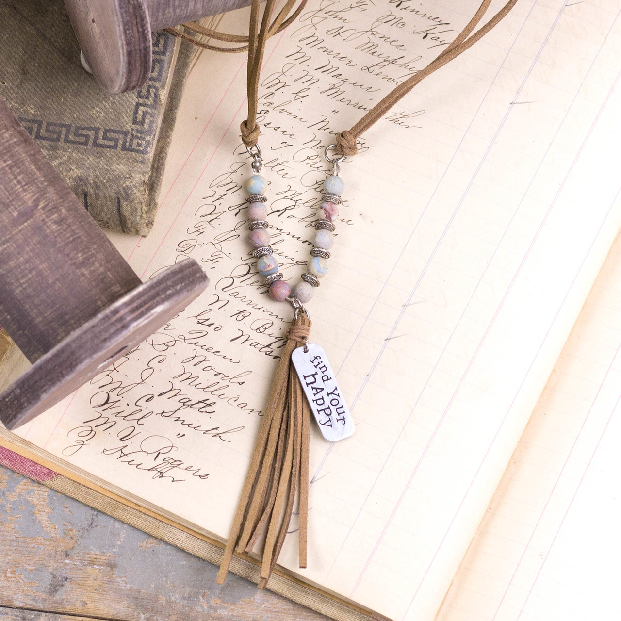 E18249 Find Your Happy Light Tassel Necklace