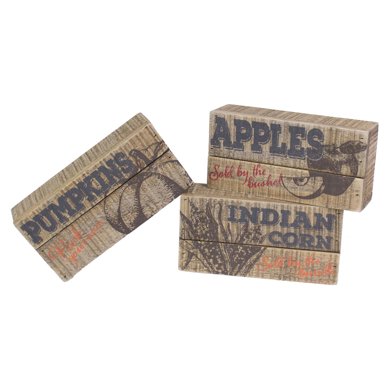 F18514 Small Farmers Harvest Pallet Sign Set (3A)