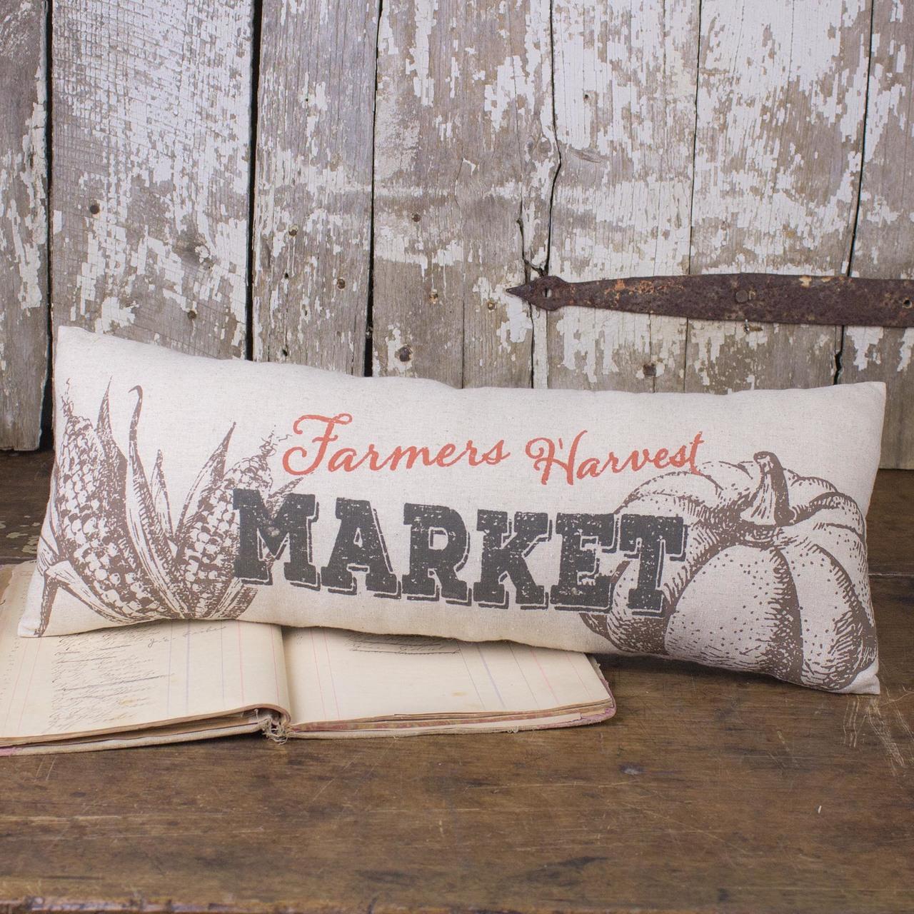 F18526 Long Farmers Harvest Market Decor