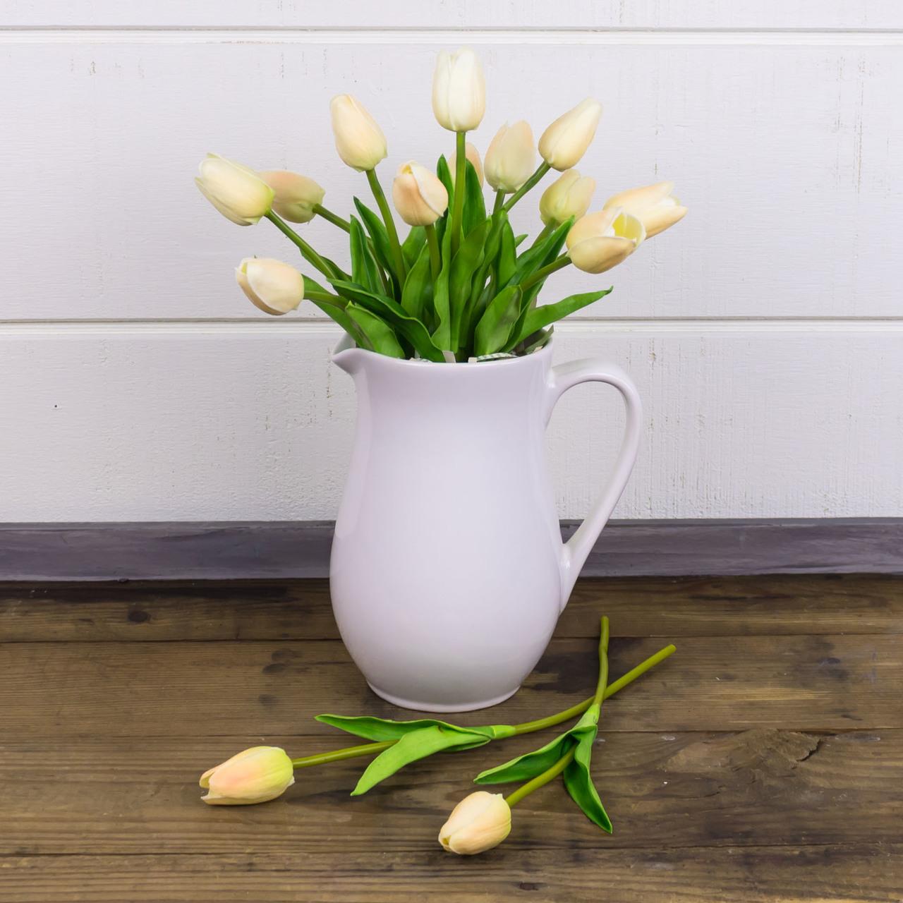 S18801 Small Cream Tulip Stem Set (2A)