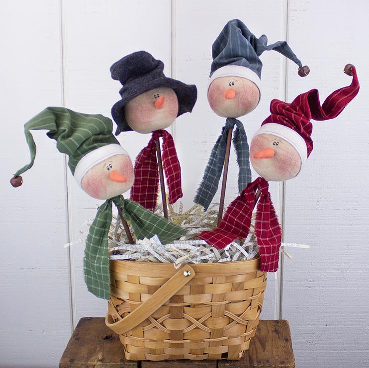 C19687 Whimsical Snowmen Head Wand Set (4A)
