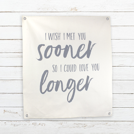 E19155 I Wish I Met You Canvas Banner