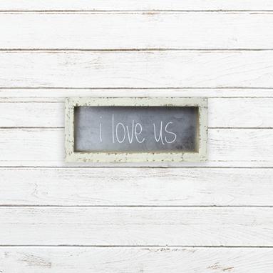 E19191 Small I Love Us Metal Framed Sign