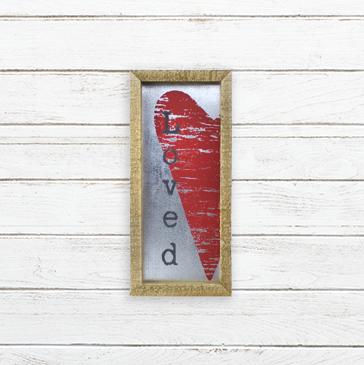 E19194 Small Loved Metal Framed Sign
