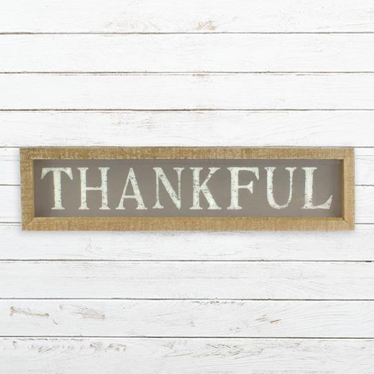 E19787 Small Horizontal Thankful Sign