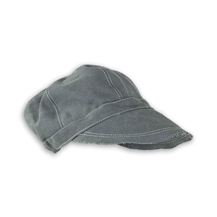 E19829 Priscilla Slate Canvas Newsboy Hat