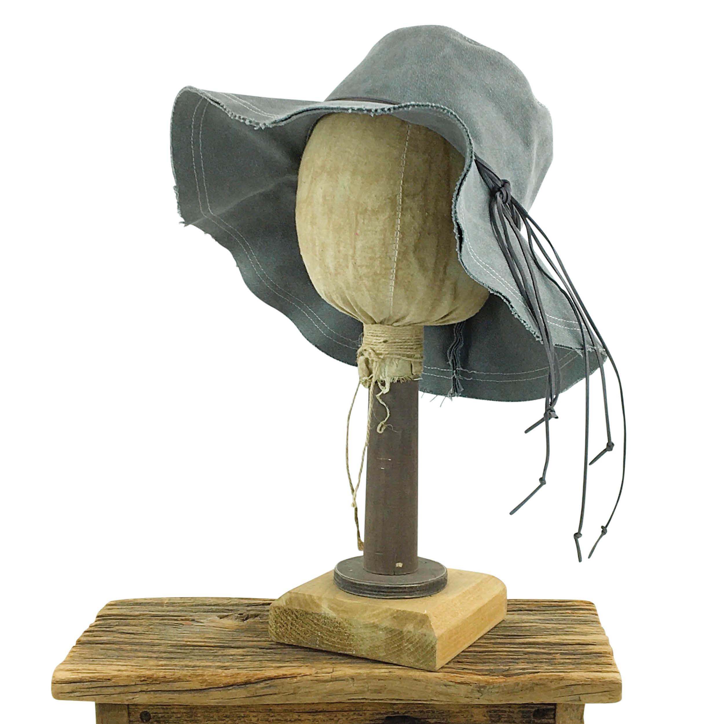 E19830 Hannah Slate Canvas Boho Hat