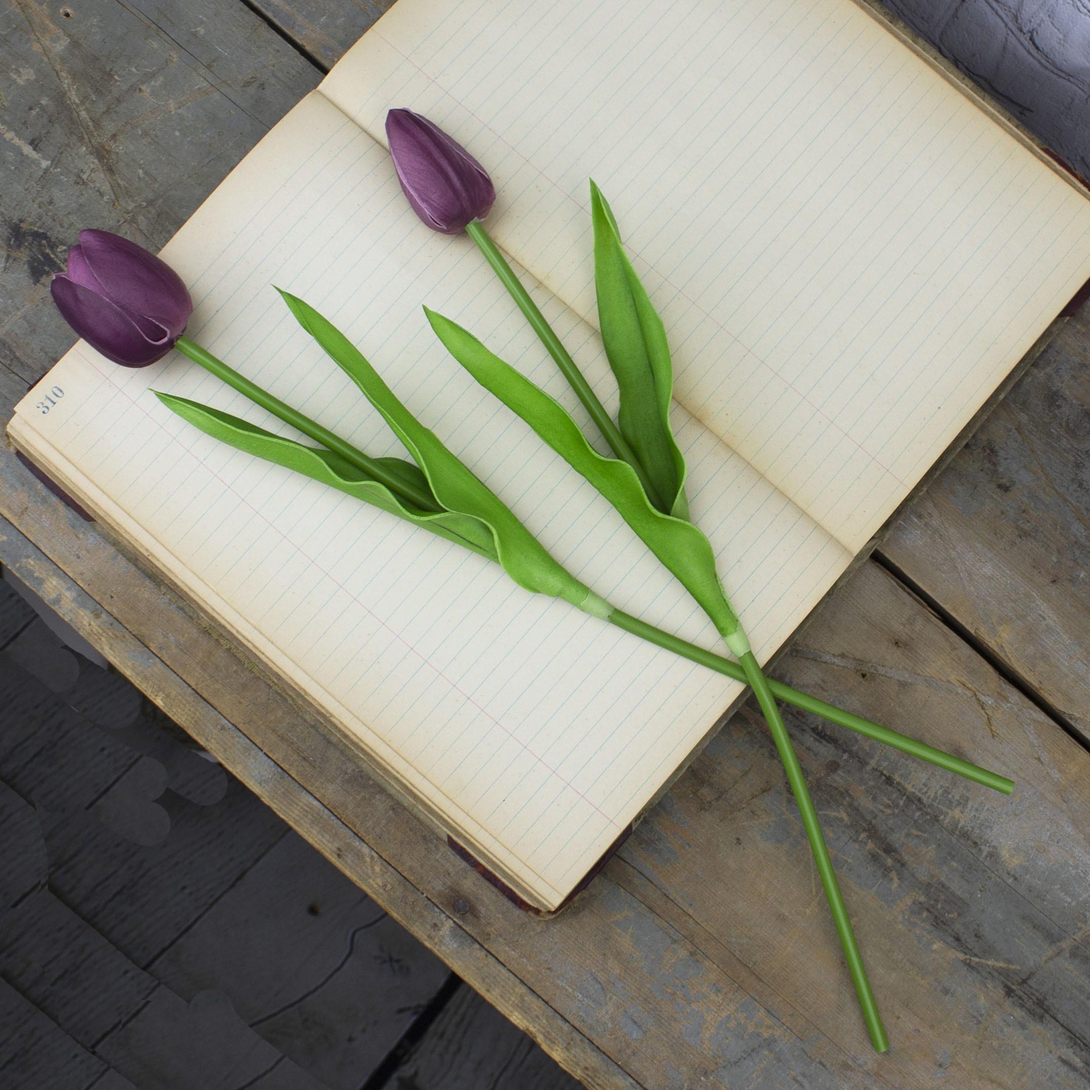 S20250 Large Purple Tulip Stem Set (2A)