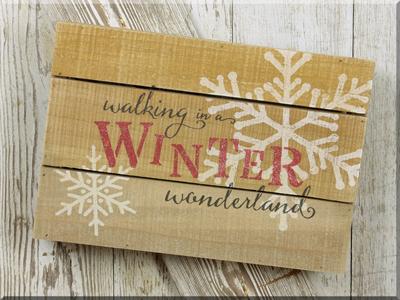 C160606 Winter Wonderland Pallet Sign