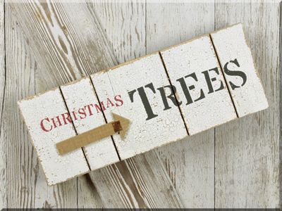 C160609 Christmas Trees Pallet Sign