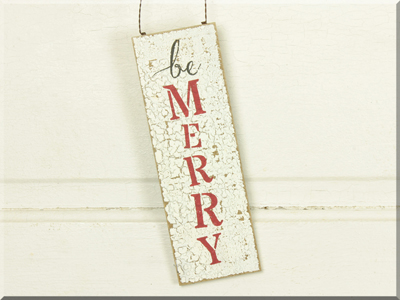 C160626A Large Be Merry Ornament