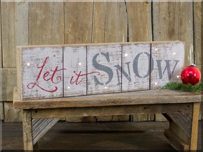 C170279 Let It Snow Timer Lighted Pallet Sign