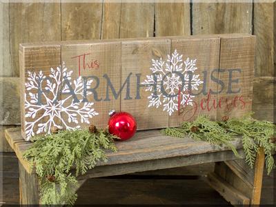 C170336 Farmhouse Believes Pallet Sign