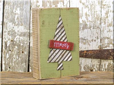 C17886 Merry w/Metal Tree Pallet Sign