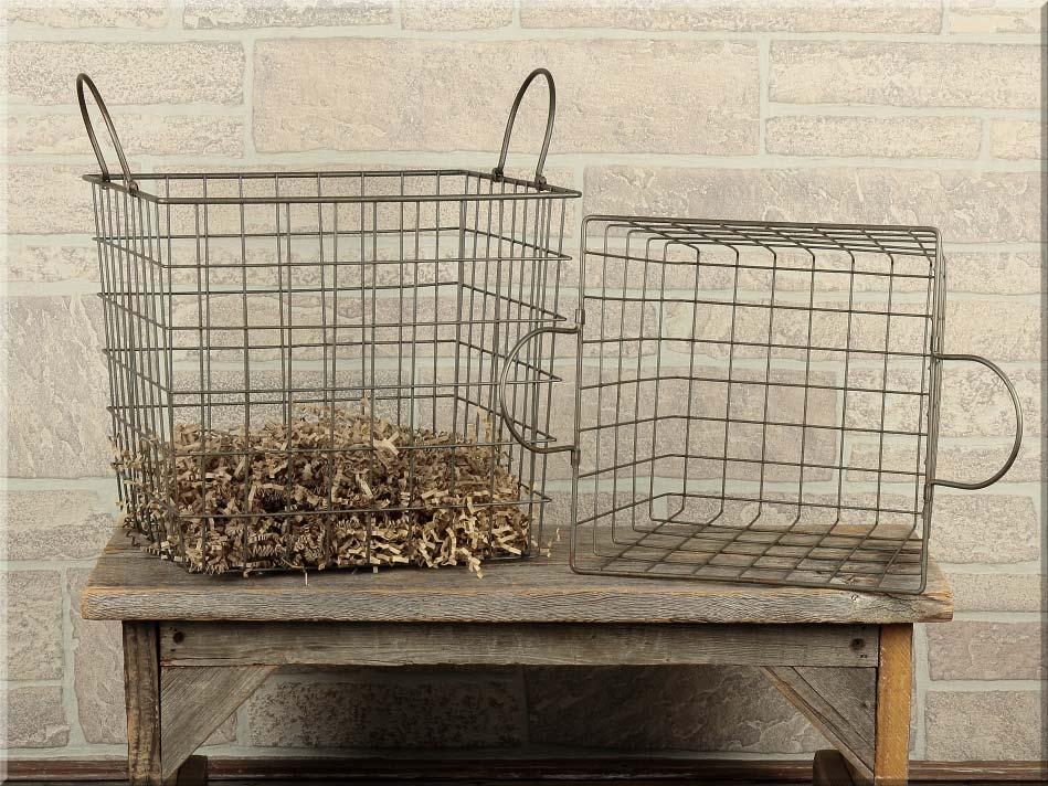 E14055 Square Metal Basket Set (2A)