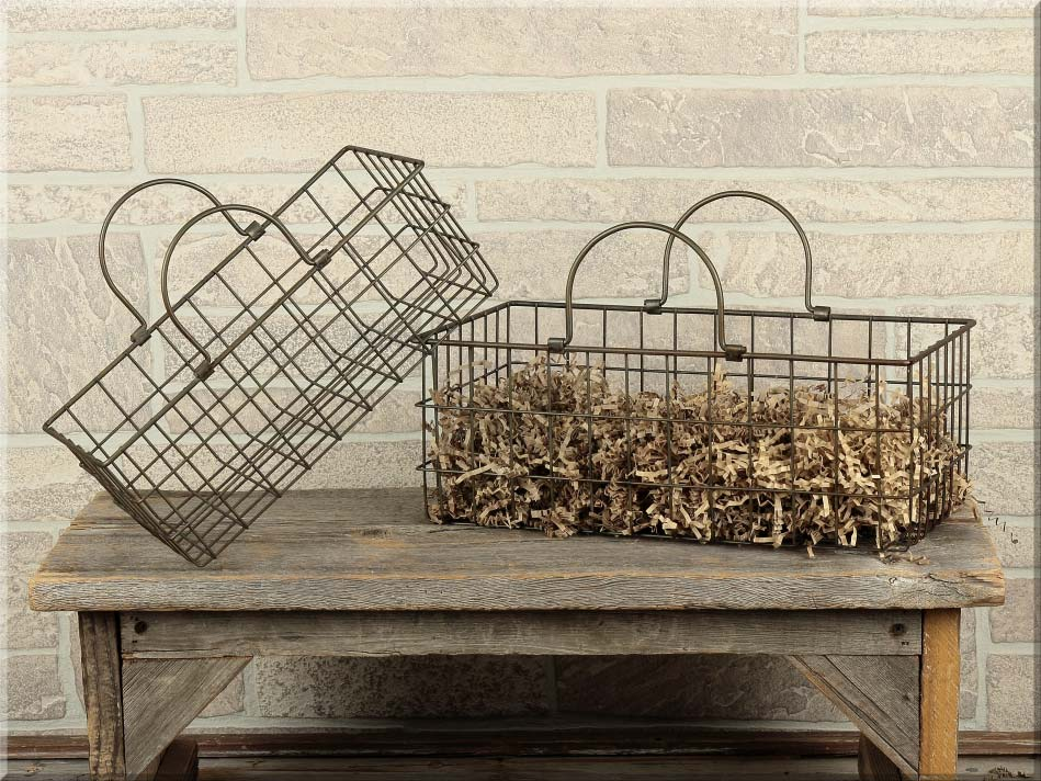 E14056 Rectangle Metal Basket Set (2A)