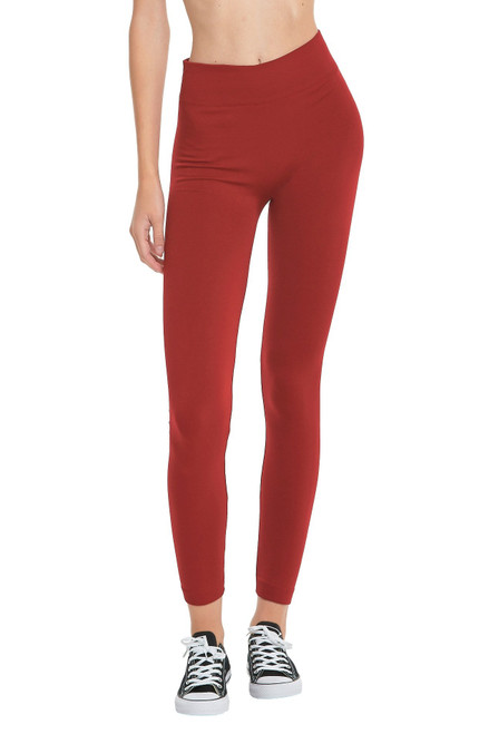 FLEECE  LEGGINGS - RED