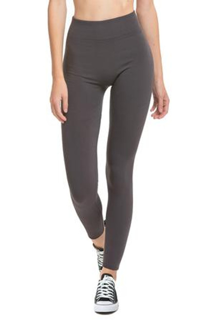 FLEECE  LEGGINGS - CHARCOAL
