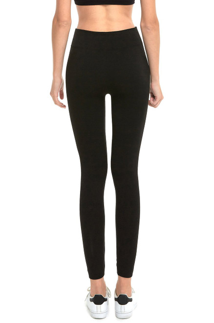 FLEECE LEGGINGS PLUS - BLACK
