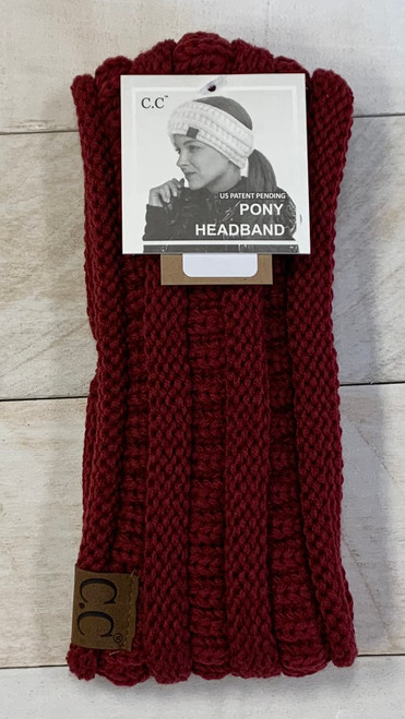 SOLID PONYTAIL HEADWRAP- MULTIPLE COLORS